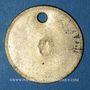 Coins Lyon (69). Société des Travailleurs Unis. sans valeur, troué, O contremarqué à l'avers