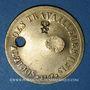 Coins Lyon (69). Société des Travailleurs Unis. sans valeur, troué, O contremarqué au revers