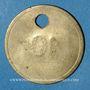 Coins Lyon (69). Société des Travailleurs Unis. sans valeur, troué, sans la contremarque habituelle