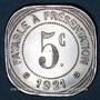 Coins Montpellier (34). Etablissements Ossart. 5 centimes 1921