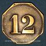 Coins Mulhouse (68, Alsace). Zoologique Garten (Jardin zoologique). 12 pfennig