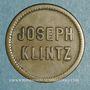 Coins Mulhouse (68). Joseph Klintz, restaurant. 16 pfennig