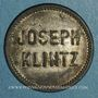 Coins Mulhouse (68). Joseph Klintz, restaurant. 18 pfennig