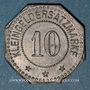 Coins Mulhouse (68). Warenhaus A. Dreyfus (Grand magasin). 10 pfennig. Zinc