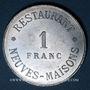 Coins Neuves-Maisons (54). Société Coopérative Haute-Moselle - Restaurant. 1 franc