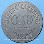 Coins Nîmes (30). Café du Gd. Gambrinus, Bd de la République. 10 centimes