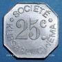 Coins Nîmes (30). Société Kursaal Cinéma. 25 centimes