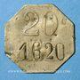 Coins Paris (75). A la Pinte du Nord - Monnier (38 rue Saint Quentin). 20 centimes