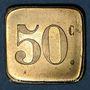 Coins Paris (75). Café du Nouveau Siècle. 50 centimes