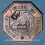 Coins Portes (30). Mines de Portes et de Senechas. 1 franc contremarque 8