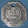Coins Saint-Avold (57). Ville. 25 pfennig 1917