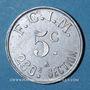 Coins Salins-les-Bains (39). F.C.I.M., 260e section. 5 centimes 1922