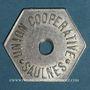 Coins Saulnes (54). Union Coopérative. Flûte. Perforé