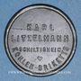 Coins Schiltigheim (67). Karl Litzelmann - Kohlen Briketts (briquettes de charbon). sans valeur. Zinc