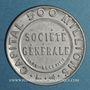 Coins Société Générale. 10 centimes (rouge/bleu)