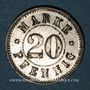 Coins Strasbourg (67). Arb. Consum Genossenschaft. 20 pfennig