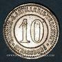 Coins Strasbourg (67). Consum-Genossenschaft Artillerie Werkstadt. 10 (pfennig)