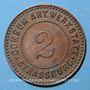 Coins Strasbourg (67). Consum-Genossenschaft Artillerie Werkstadt. 2 (pfennig)