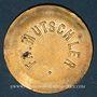 Coins Strasbourg (67). Fr. Mutschler (restaurant Grande Taverne Vignette). 1 franc