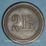 Coins Strasbourg (67). Fr. Mutschler (restaurant Grande Taverne Vignette). 2 francs