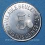 Coins Unieux (42). Etablissements Jacob Holtzer. 5 centimes, contremarque cloche