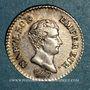 Coins 1er empire (1804-1814). 1/4 franc tête nue, an 13 A