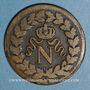 Coins 1er empire (1804-1814). 1er blocus de Strasbourg 1814. 1 décime 1814 BB. Points après DECIME et 1814