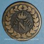 Coins 1er empire (1804-1814). 1er blocus de Strasbourg 1814. 1 décime 1814 BB. Points après DECIME
