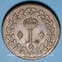 Coins 1ère Restauration (1814-15). 1er Blocus Strasbourg 1814. Décime 1814 BB. Points après DECIME et 1814