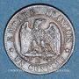 Coins 2e empire (1852-1870). 1 centime tête laurée 1862 BB. Strasbourg. Grand BB