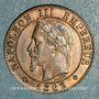 Coins 2e empire (1852-1870). 1 centime tête laurée 1862 BB. Strasbourg. Petit BB