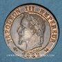 Coins 2e empire (1852-1870). 1 centime tête laurée 1862 K. Bordeaux