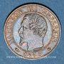 Coins 2e empire (1852-1870). 1 centime tête nue 1853 BB. Strasbourg