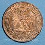 Coins 2e empire (1852-1870). 1 centime tête nue 1853 MA. Marseille