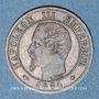 Coins 2e empire (1852-1870). 1 centime tête nue 1854 BB. Strasbourg