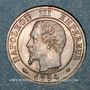 Coins 2e empire (1852-1870). 1 centime tête nue 1854 MA. Marseille
