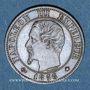 Coins 2e empire (1852-1870). 1 centime tête nue 1856 BB. Strasbourg