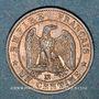 Coins 2e empire (1852-1870). 1 centime tête nue 1856 MA. Marseille