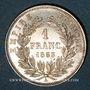 Coins 2e empire (1852-1870). 1 franc tête nue 1853 A