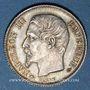 Coins 2e empire (1852-1870). 1 franc tête nue 1858 A