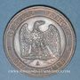 Coins 2e empire (1852-1870). 10 centimes tête nue 1857 A