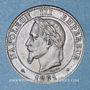 Coins 2e empire (1852-1870). 2 centimes tête laurée 1861 BB. Strasbourg. Pointe du buste alignée sur le 1