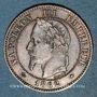 Coins 2e empire (1852-1870). 2 centimes tête laurée 1862 A