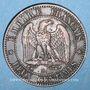 Coins 2e empire (1852-1870). 2 centimes tête nue 1853 BB. Strasbourg