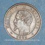 Coins 2e empire (1852-1870). 2 centimes tête nue 1853 K. Bordeaux