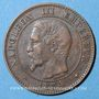 Coins 2e empire (1852-1870). 2 centimes tête nue 1854 BB. Strasbourg