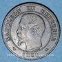 Coins 2e empire (1852-1870). 2 centimes, tête nue, 1854 D. Lyon. Petit D