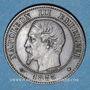 Coins 2e empire (1852-1870). 2 centimes, tête nue, 1855 BB. Strasbourg. Ancre