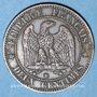 Coins 2e empire (1852-1870). 2 centimes, tête nue, 1855 BB. Strasbourg. Tête de chien