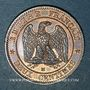 Coins 2e empire (1852-1870). 2 centimes, tête nue, 1855 MA. Marseille, ancre